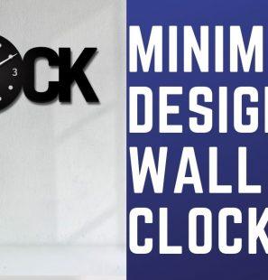 minimal design wall clock